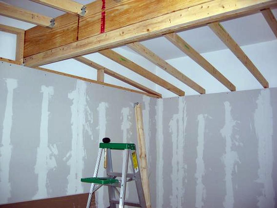 drywall y madera