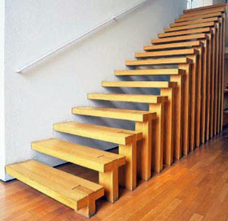 Foto escalera de transito de joran carpinteria con gusto for Medidas escaleras