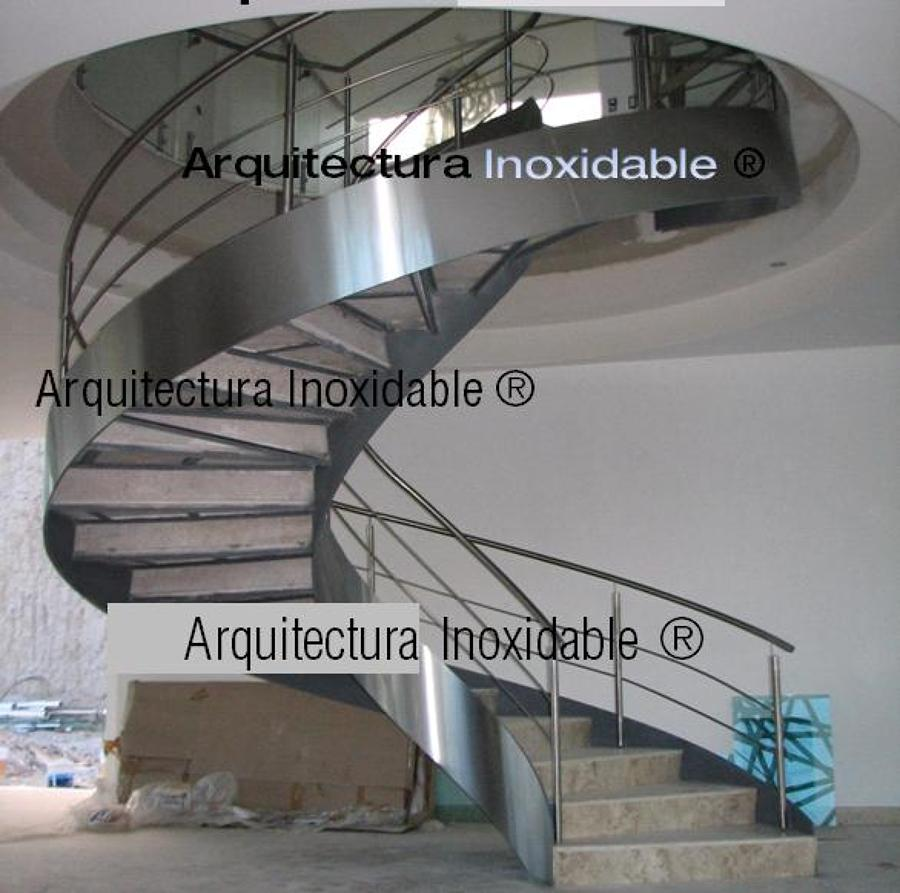 Foto escalera helicoidal acero inoxidable de arquitectura for Escaleras helicoidales
