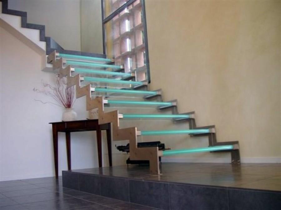escaleras en cristal templado