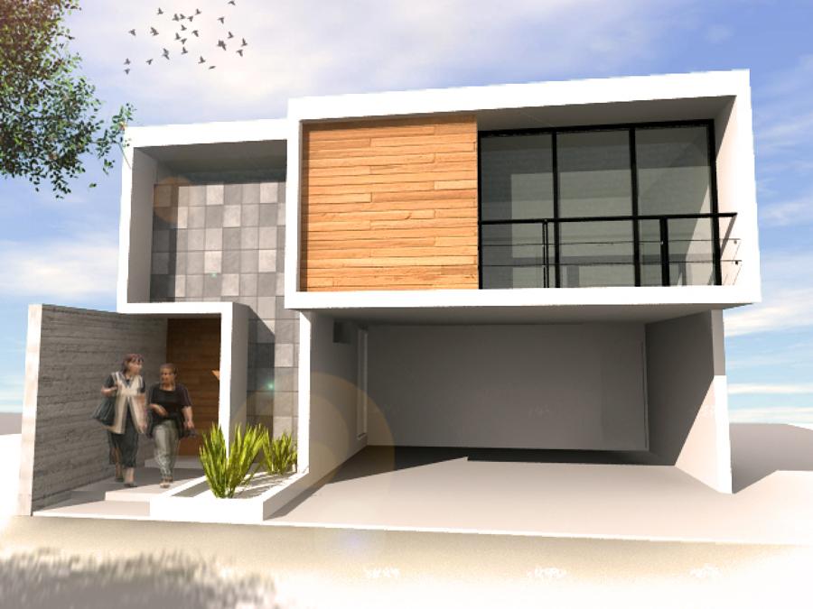 R h arquitectura puebla for Render casa minimalista