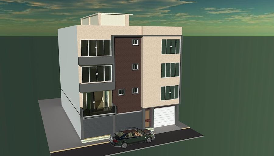 Foto dise o de edificio de departamentos de imc dise o y for Diseno de edificios