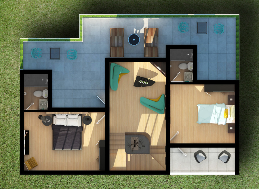 Foto planta casa habitacion india de rj arquitectos - Plantas para habitacion ...
