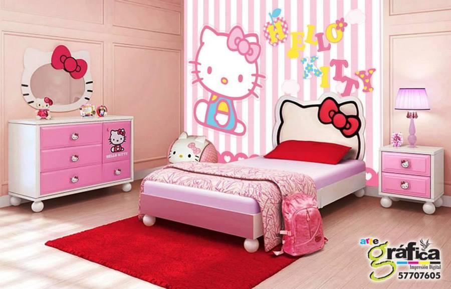 Foto fotomural hello kitty de arte gr fica m xico 61103 for Cuarto para nina hello kitty