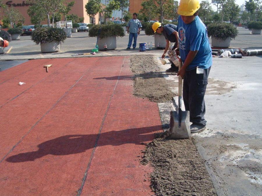 Impermeabilización y asfalto en Plaza Satelite