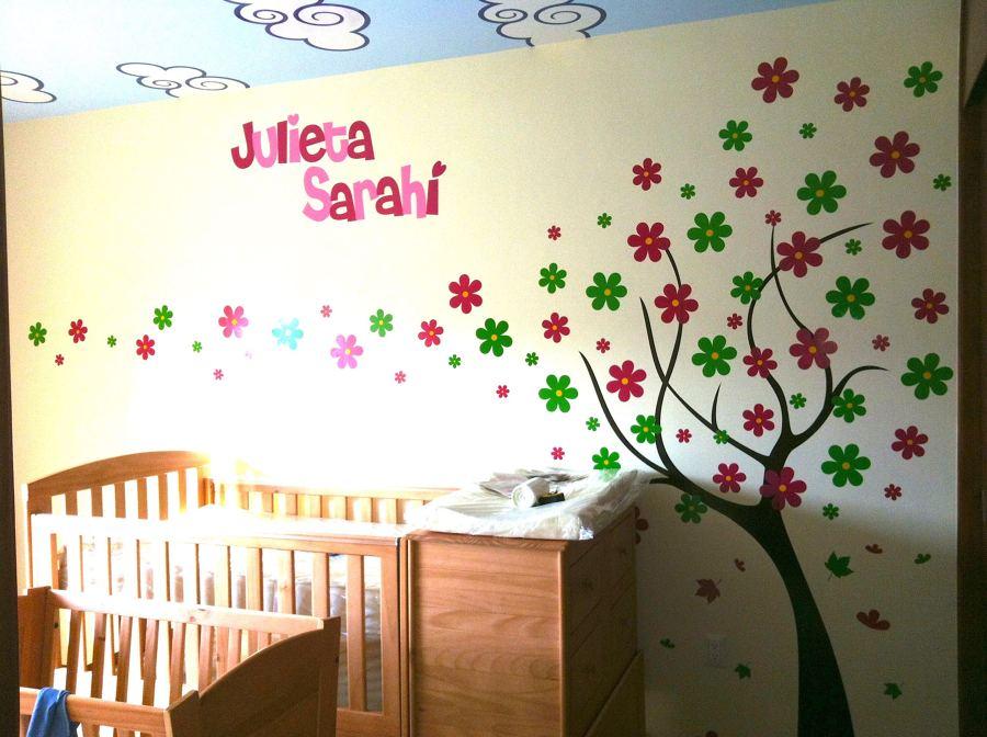 Foto arbol con flores de muur deco 134101 habitissimo - Deco tv muur ...