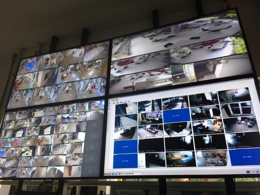 videowall laboratorios de produccion.