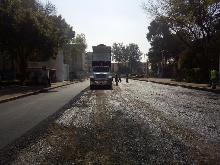 Asfaltando calles