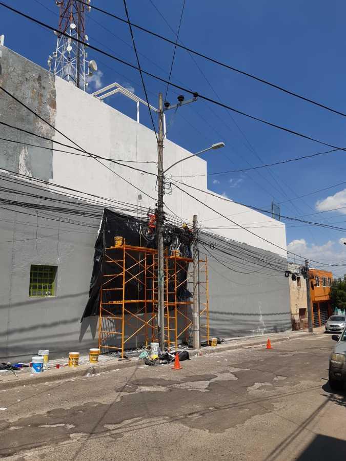 Pintura en fachada  y estuco