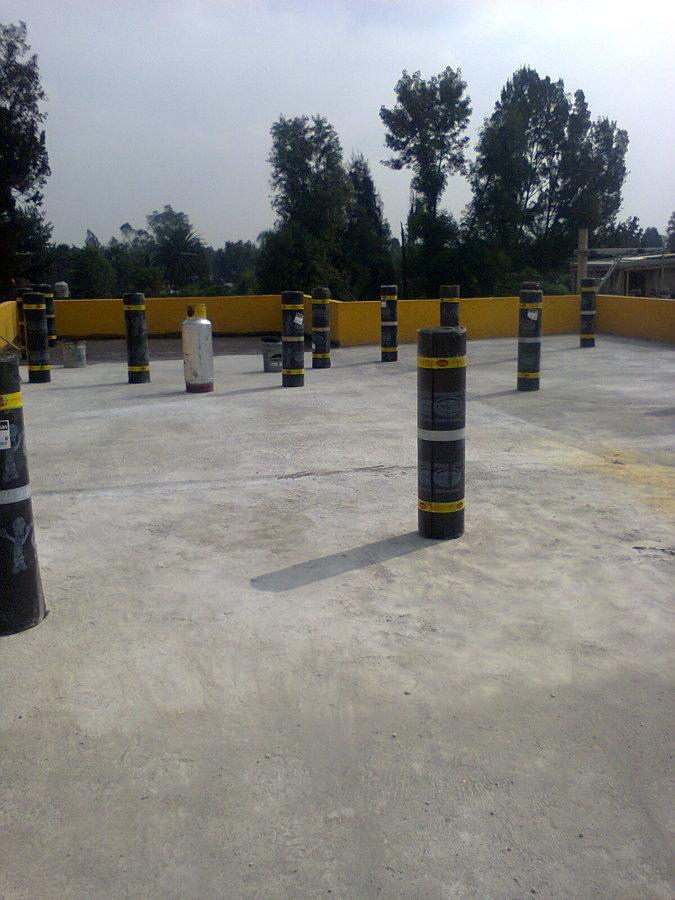 Impermeabilizacion en azotea material prefabricado