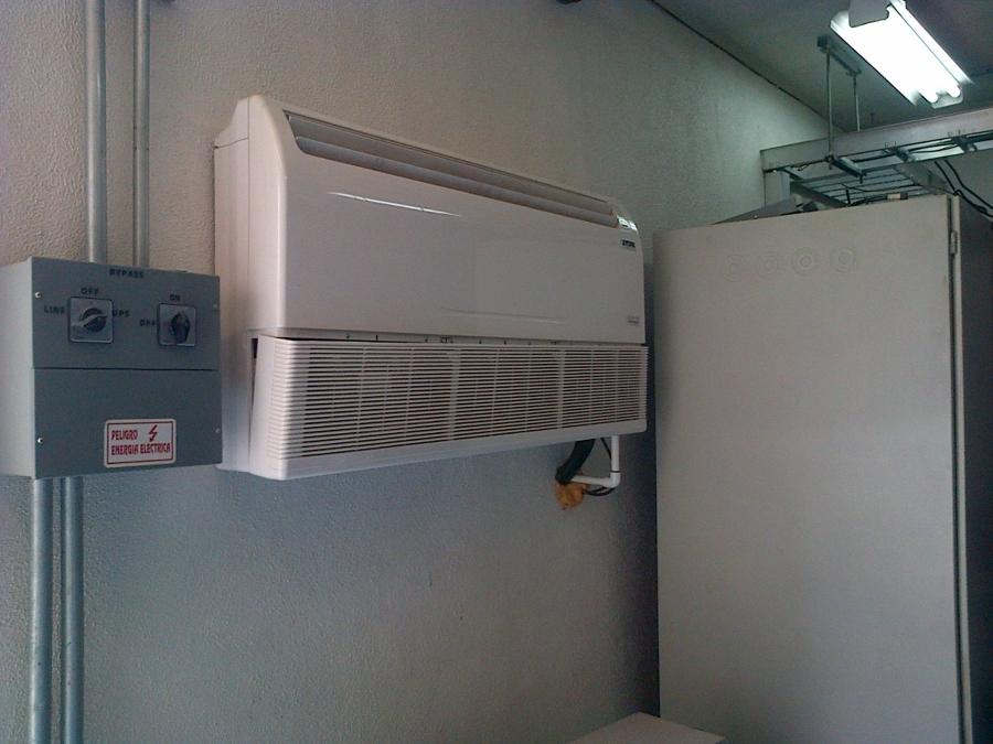 instalacion de unidad evaporadora