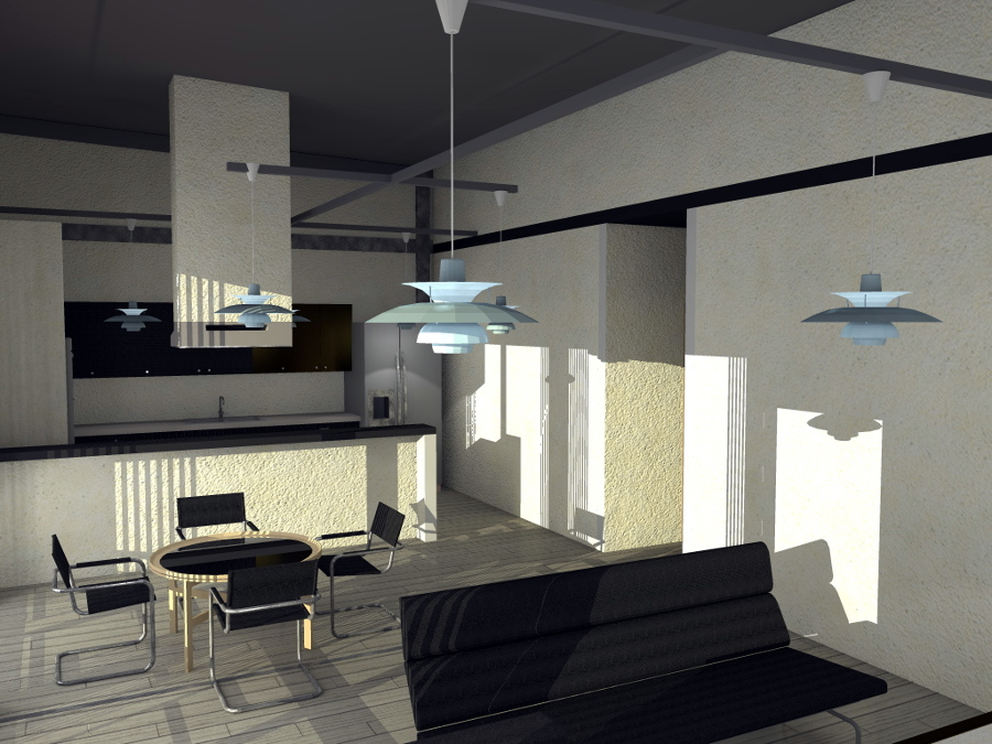 Interior casa Nuxco - Render calidad media