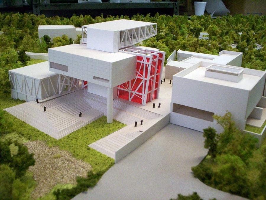 Foto maqueta museografica de cr estudio de arquitectura for Casa minimalista maqueta