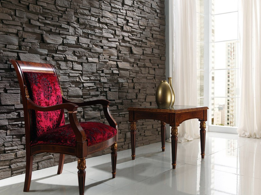 Foto muros de piedra natural de grupo decorama 33762 - Piedra natural para interiores ...