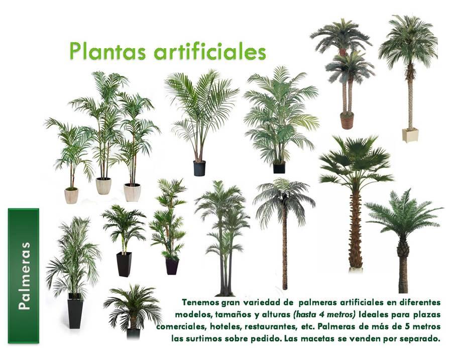 Foto palmeras artificiales de decorklass plantas for Jardines con plantas artificiales