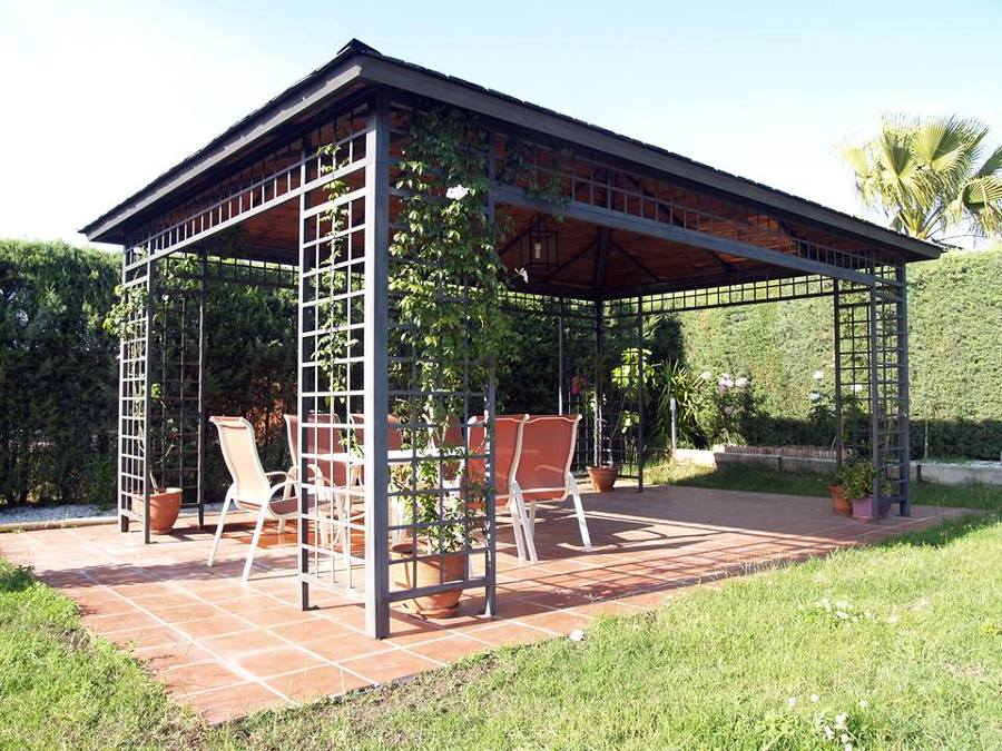 pergolas para jardin de hierro innovation. Black Bedroom Furniture Sets. Home Design Ideas