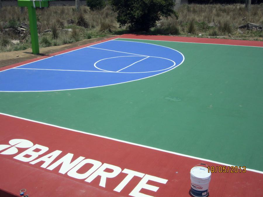 Foto pintura en cancha deportiva de super colors euroton - Pintura para pistas deportivas ...