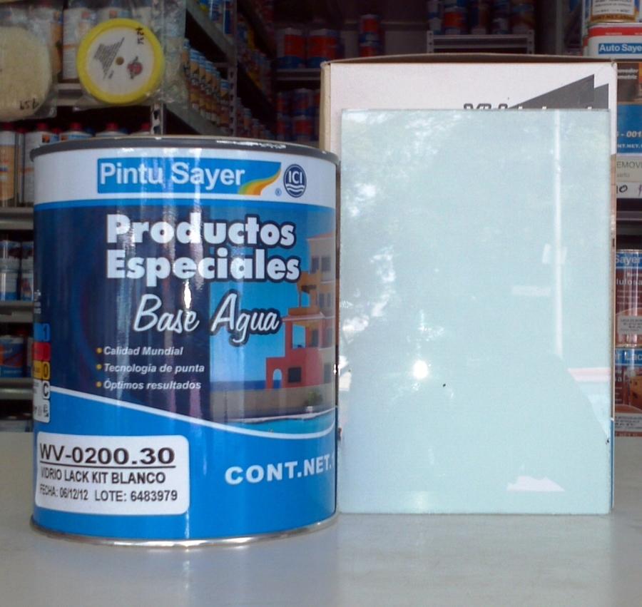 Foto pintura para vidrio de sayer lack miramontes 12931 - Pintura para azulejos de bano ...