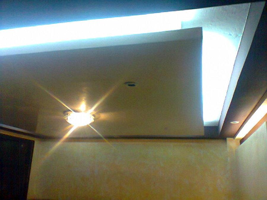 Foto plafones co luz indirecta de constru ya jrd sa de for Plafones pared aki