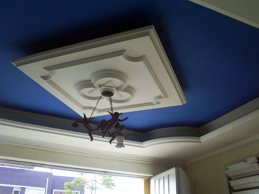 Foto plafones de casa de la moldura dekorativa 27021 for Plafones de pared exterior