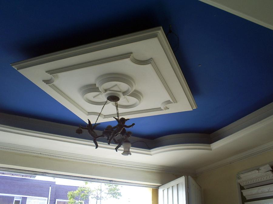 Foto plafones de casa de la moldura dekorativa 27021 for Plafones de pared para escaleras