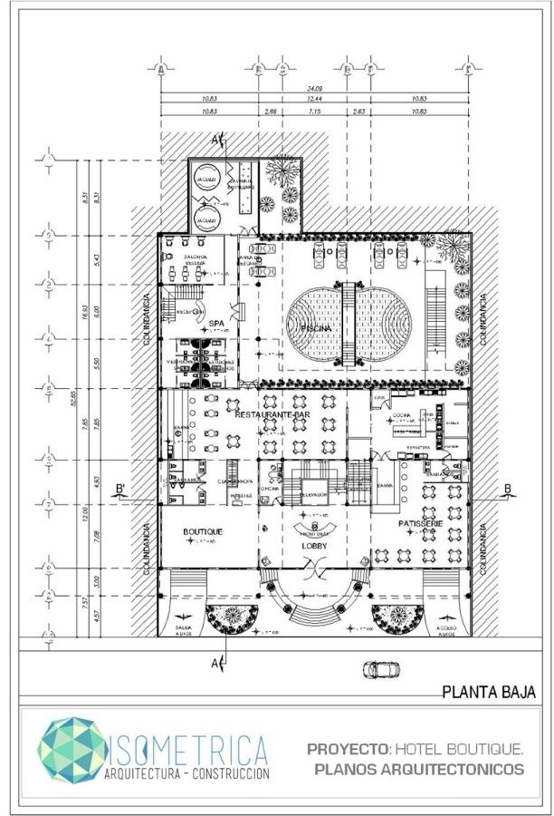 Foto plano arquitectonico hotel de isometrica 9347 for Que es un plano arquitectonico