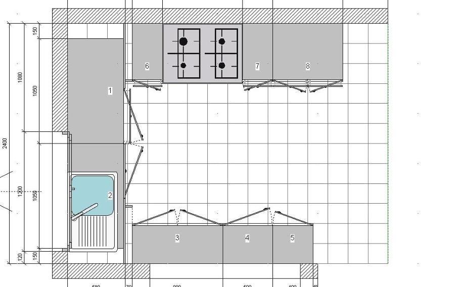 Foto plano de cayro cocinas 18053 habitissimo for Plano cocina con isla