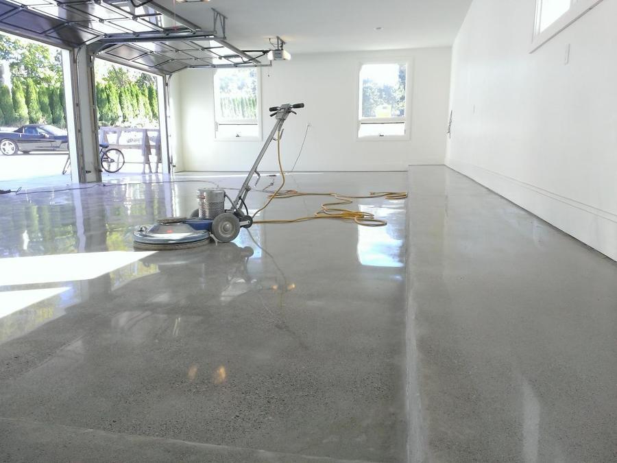 Pulido y brillado de concreto