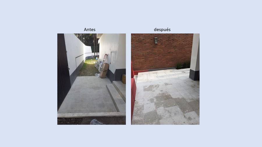 Renovación de áreas en jardines