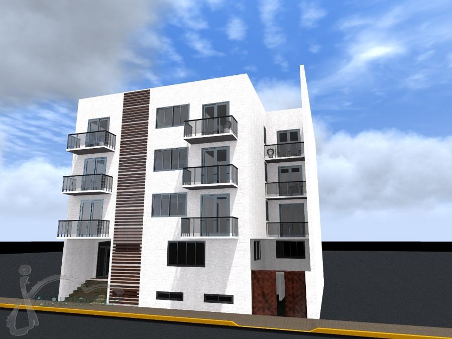 Foto propuesta edificio de departamentos de jm for Arquitectura departamentos modernos