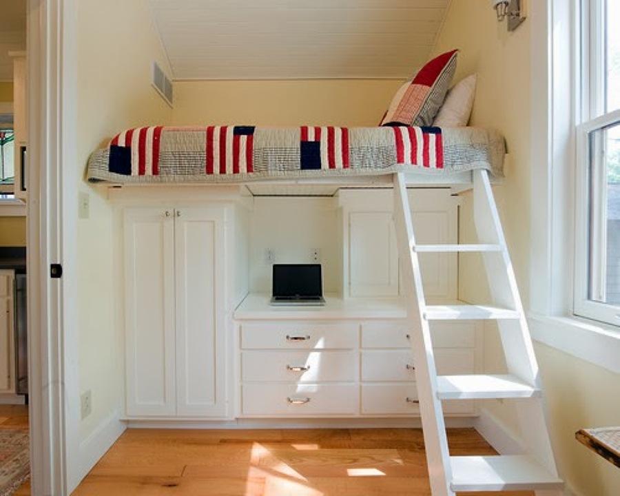 Foto recamara ahorra espacio de cocinas y closets del - Habitaciones en espacios reducidos ...
