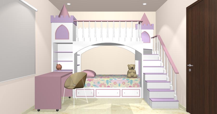 Foto castillo recamara infantil de casa 123 161952 for Recamara matrimonial para nina