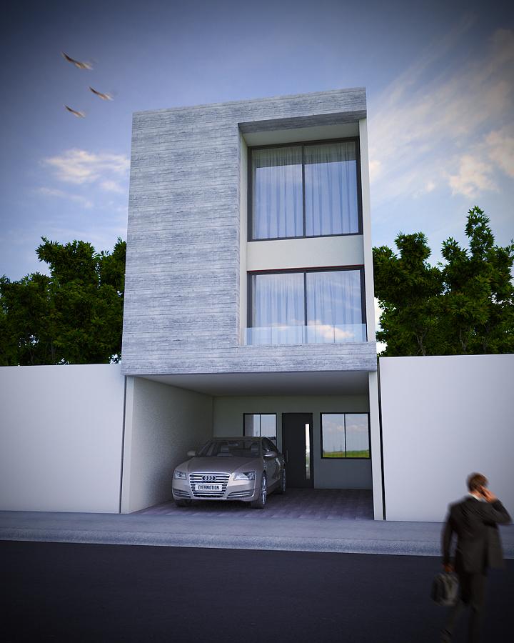 Foto ampliaci n de casa estilo m nimalista con concreto for Render casa minimalista
