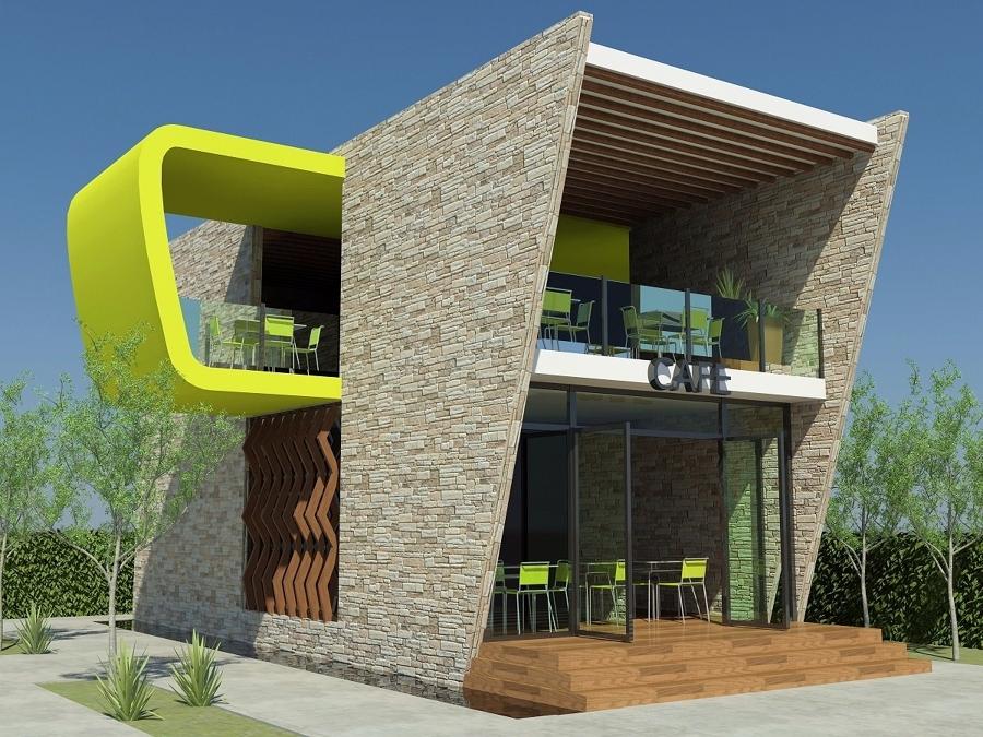 Foto render cafeteria de aguirre arquitectos 21449 for Render casa minimalista