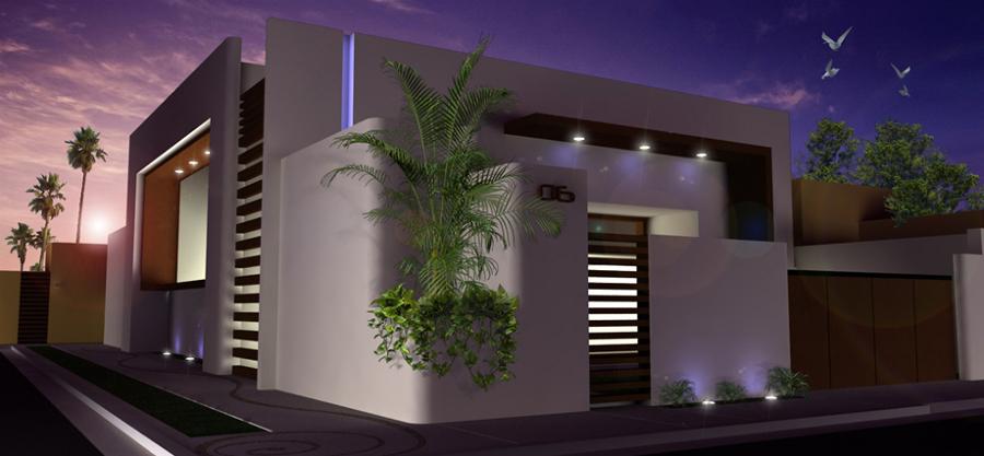 Foto render casa habitaci n de conceptos arquitect nicos for Render casa minimalista