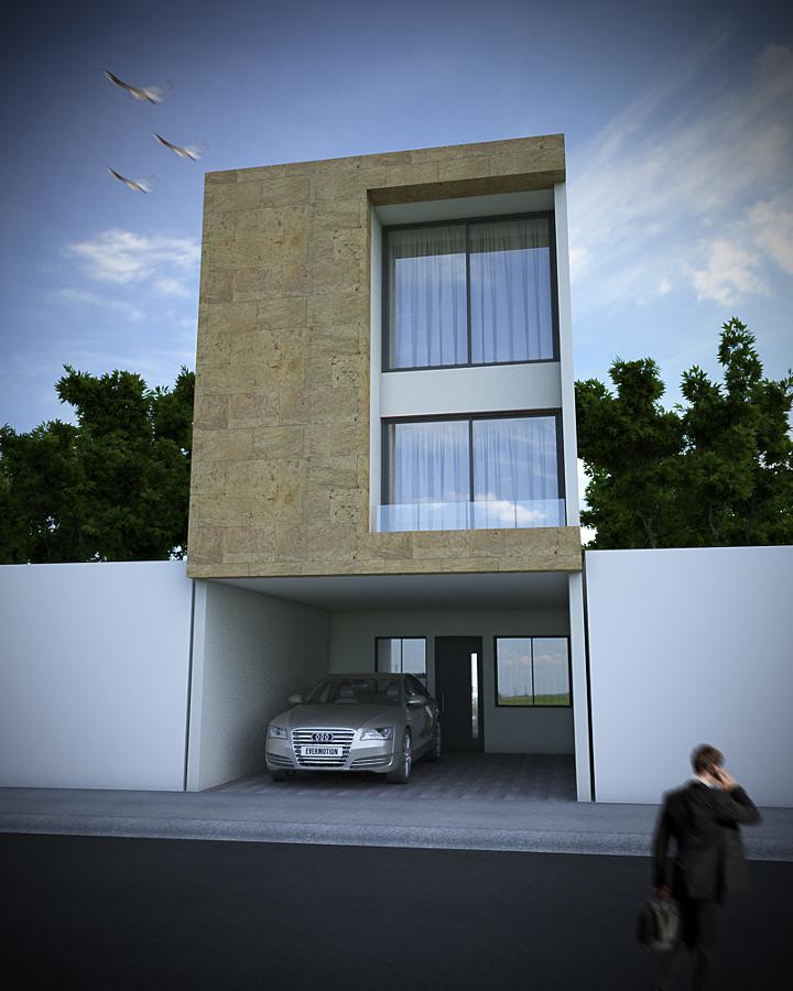 Foto fachada minimalista con cantera de arquitectura for Fachadas oficinas minimalistas