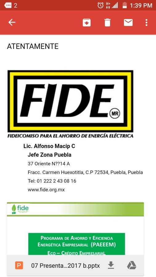 Proyectos de eficiencia energética FIDE