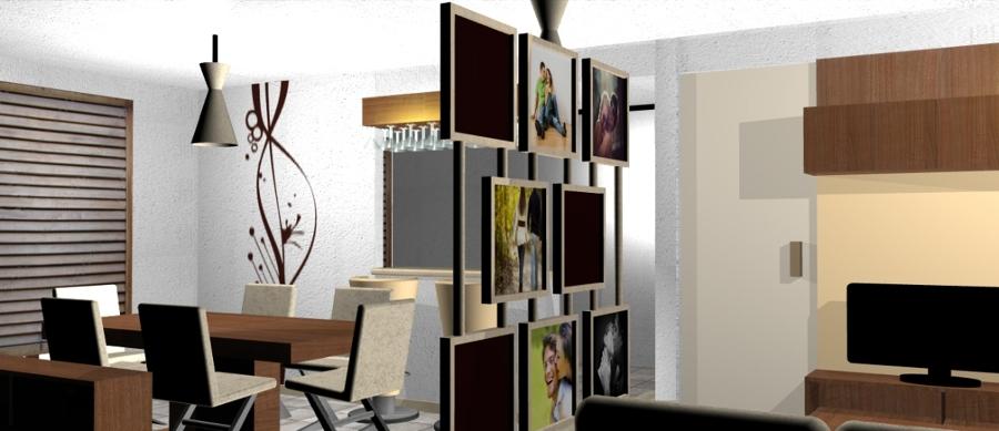Foto separador de espacios interior de claire concepto - Muebles separadores de espacios ...