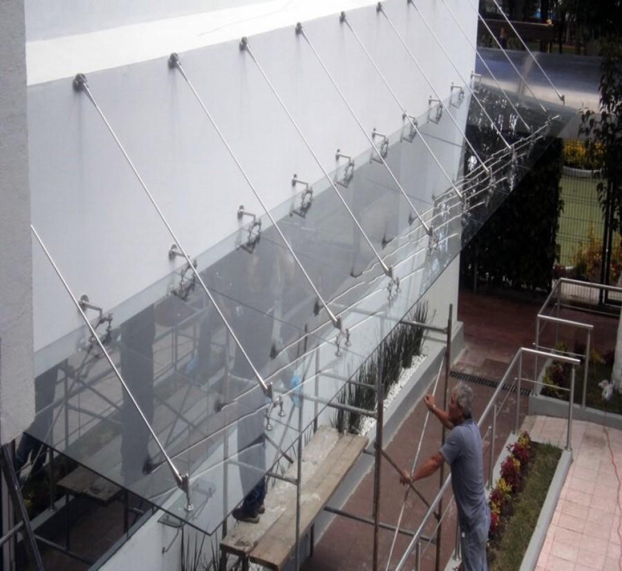 Foto techumbre en cristal templado con sistema puebla de for Cristal templado queretaro