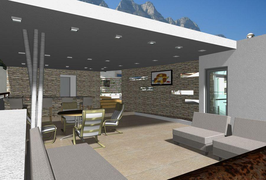 Foto terraza en azotea de victor quintanilla arquitectura for Toldos para terrazas en azoteas