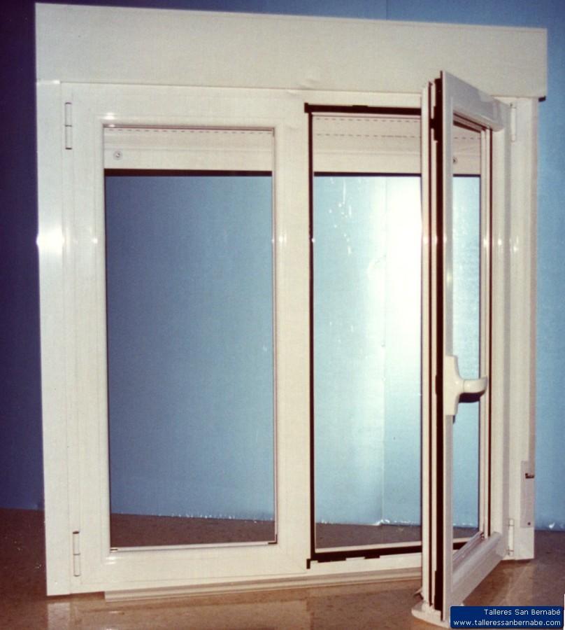 Ventana dealuminio blanco con vidrio pulido
