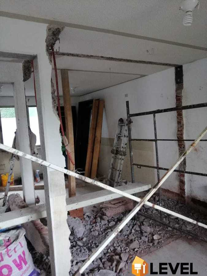 demolición para ampliación
