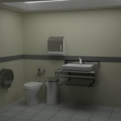 Render de Proyecto Para sanitarios de Empleados Sony.
