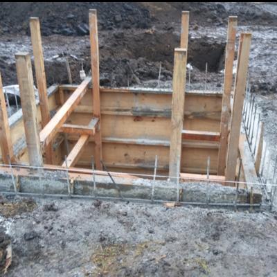 Cimbra de cimentación para cisterna de 10000 lts