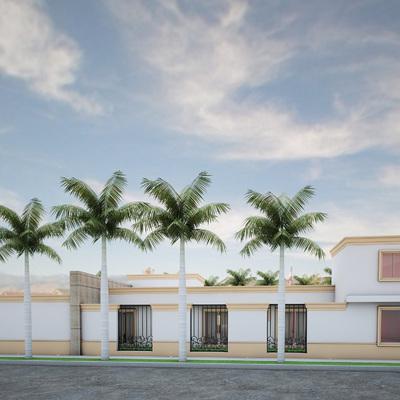 Fachada Lateral residencia Lopez