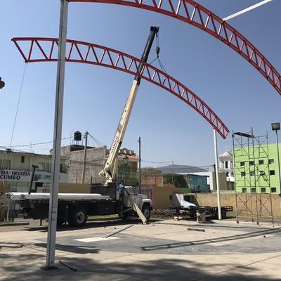Construcción de Cancha de Basquet