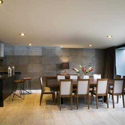 Comedores confortables. Construcción de casas aprovechando al máximo los espacios