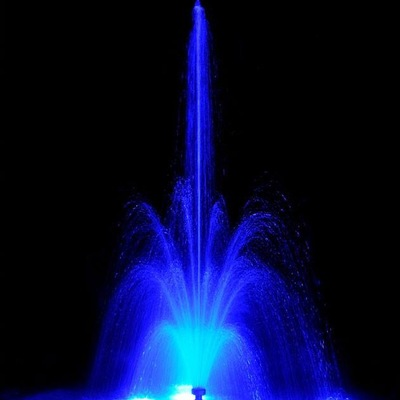 FUENTE DE TULIPAN LED RGB AZUL