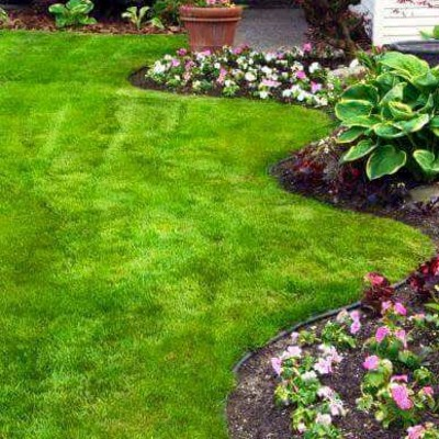 Diseño de jardines con mulch y pasto