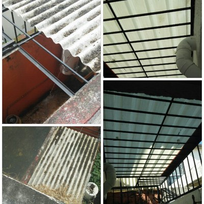 Cambio de techo de Acrilico
